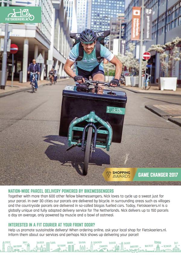 600 Bike messengers across 30 cities in The Netherlands