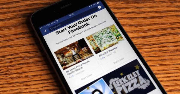 """Facebook rolls out a new """"Order Food"""" option in its main navigation"""