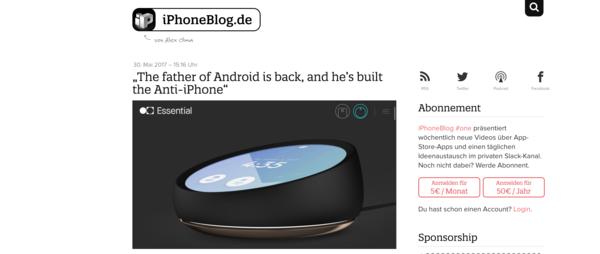 iPhoneBlog.de von Alex Olma
