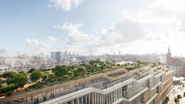 Google's huge new London HQ is a 'landscraper' with a rooftop garden