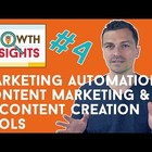 Marketing Automation Tools, Content Marketing Tools & AI Content Creation - Growth Insights #4 - YouTube
