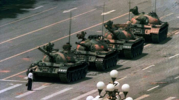 It has been 28 years since the protests at Tienanmen Square. This image should be in every social studies teacher's classroom.