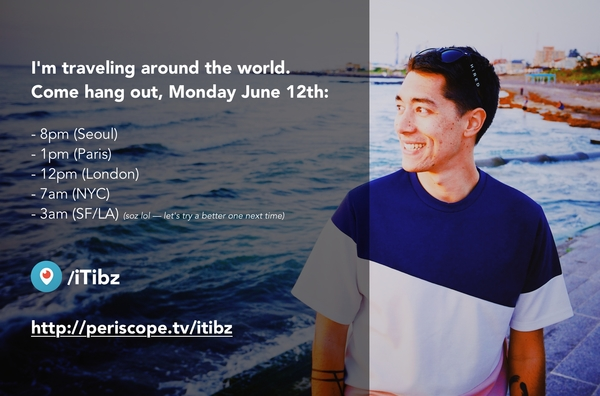 Join me on Periscope next Monday!