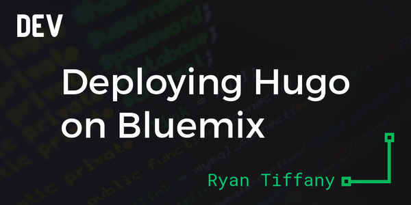 Deploying Hugo on Bluemix