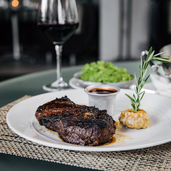 """Bison Ribeye by BOA Steakhouse (@hungryinla)"