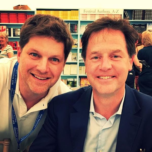 With Nick Clegg at the Hay Festival