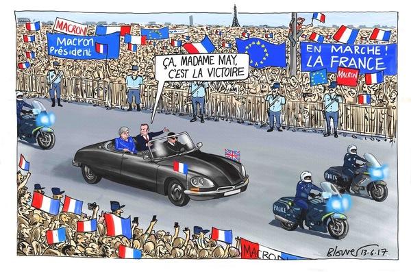Cartoon uit The Telegraph vandaag