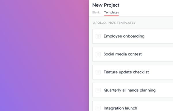 Asana — Custom Project Plan Templates