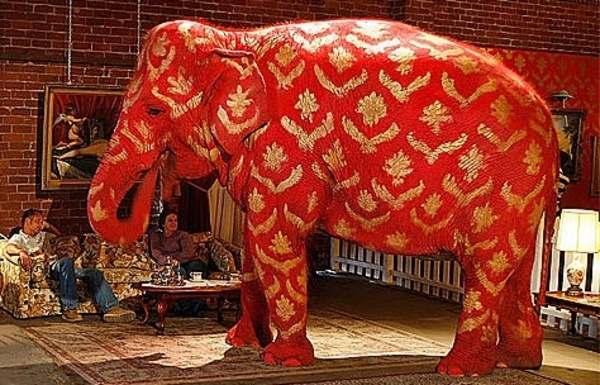 No such thing as a gawky elephant, but an elephant in the room is pretty awkward.
