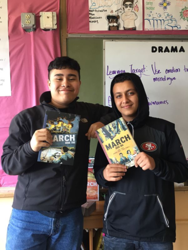 My colleague Shannon knows how to get young people to love reading. Here are two of her ninth graders in San Francisco. Check out her story: j.mp/ssrworks