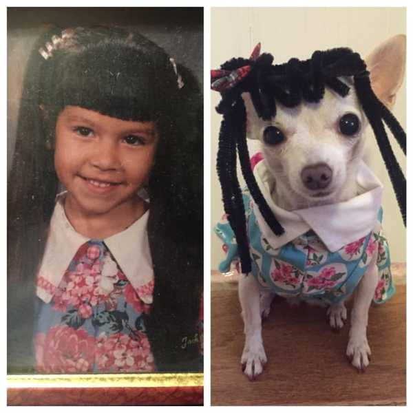 Who wore it better? 👧🏻 or 🐶