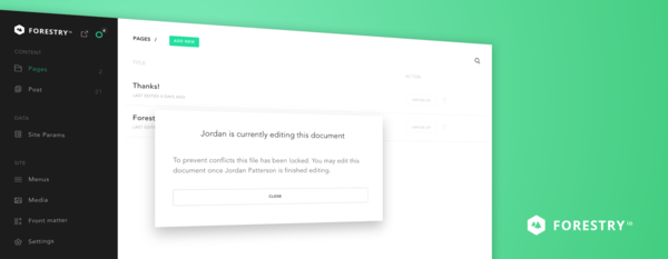Improved Collaboration & More - Forestry.io