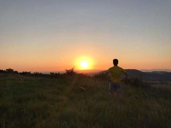 Mardi matin, pour éviter la chaleur et voir le lever de soleil,  je suis parti courir à 5h26 ! Un pur moment de plaisir