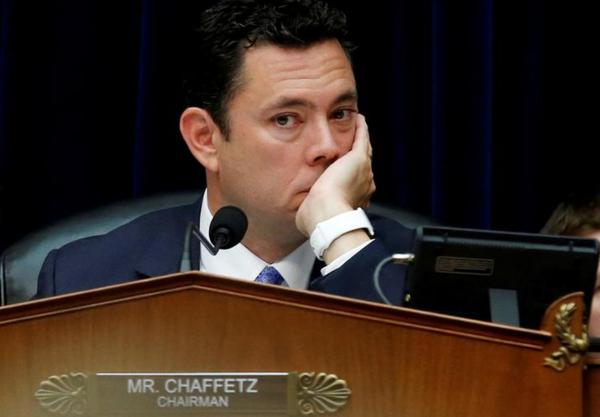 Het Republikeinse Congreslid Jason Chaffetz, voorzitter van de machtige Oversight Committee (foto: Reuters)