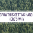 Growth is getting hard from intensive competition, consolidation, and saturation