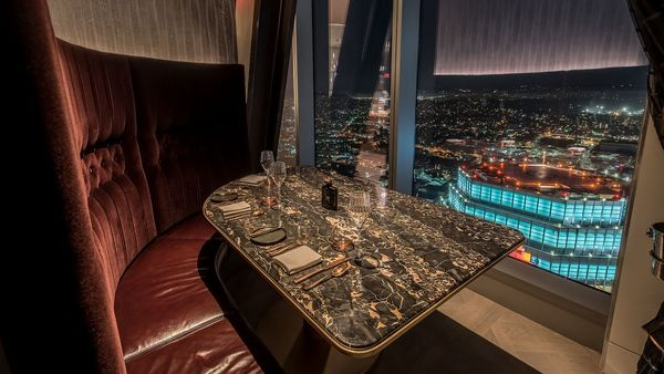 This Sky-High Steakhouse Hovers 71 Stories Above Downtown LA | Eater LA