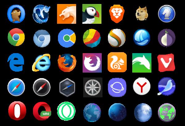 Web tarayıcı logoları (github.com/alrra/browser-logos)