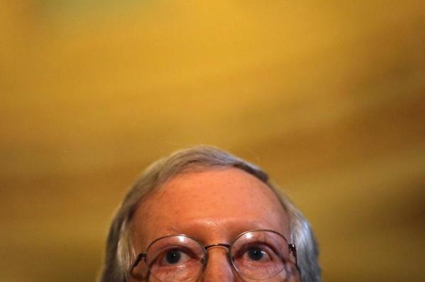 Mitch McConnell, leider van de Republikeinen in de Senaat (foto: Reuters)