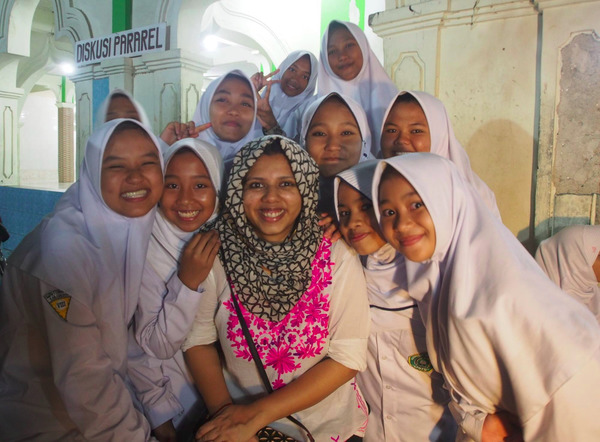 Borpujari during a recent reporting trip to Indonesia. Photo credit: PB