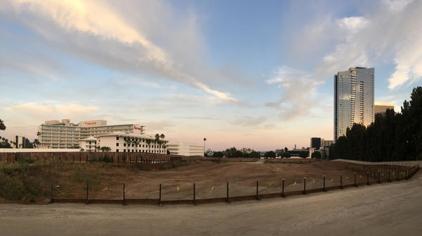 """Site of Wanda's """"One Beverly Hills"""" condo and hotel project."""