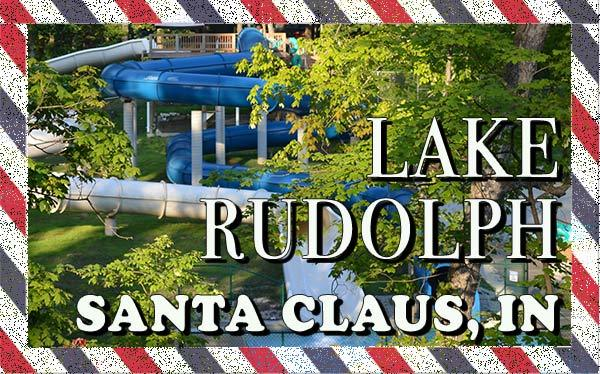 We are at Lake Rudolph Campground | Santa Claus, Indiana