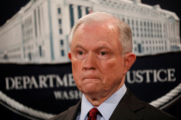Jeff Sessions, minister van Justitie (foto: Reuters)
