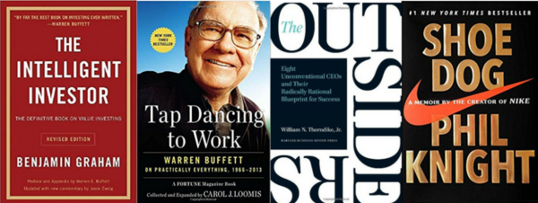 Warren Buffett gives book recommendations each year in his annual report.