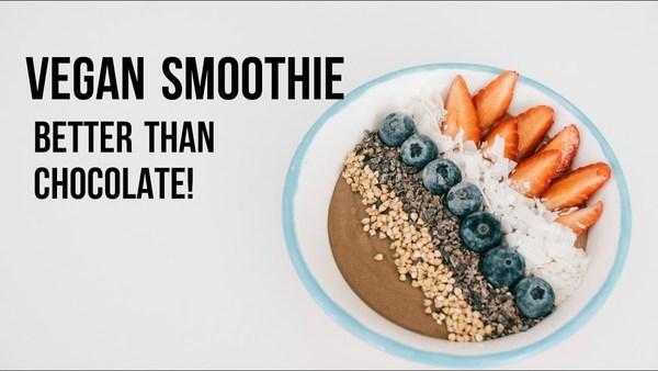 VEGAN CHOCOLATE SMOOTHIE BOWL | Healthy & clean recipe - YouTube