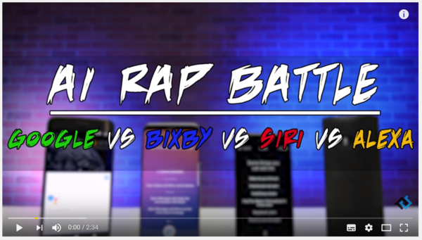 Ever seen a voice assistant rap battle?