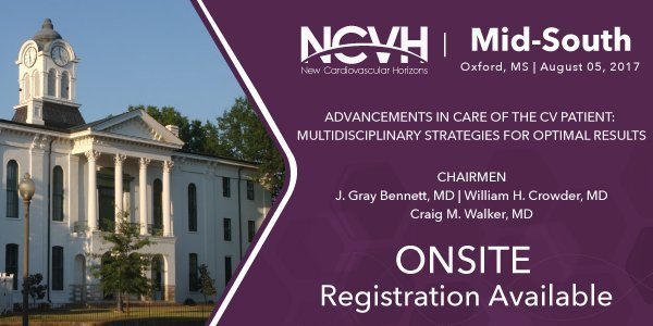 Don't miss the opportunity to attend a cardiovascular conference chaired by Dr. Bennett & Dr. Crowder Saturday. You can register onsite.