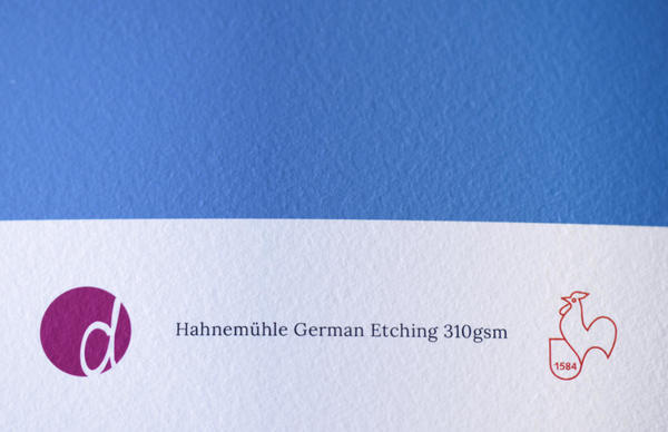 The textured surface of Hahnemühle's 310gsm German Etching paper.