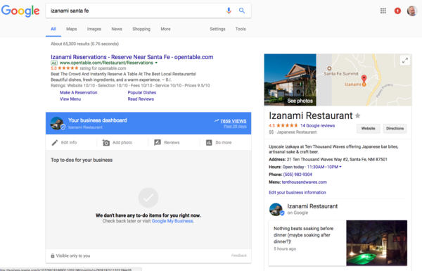 Google Tests GMB Editing in SERP