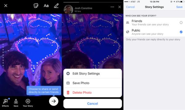 Facebook Stories unlocks public sharing