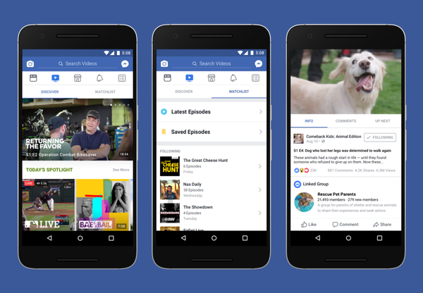 Facebook just announced a YouTube competitor called Watch