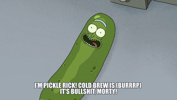 Pickle Rick keeps it spicy.