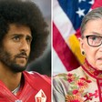 Colin Kaepernick should take a knee on Ruth Bader Ginsburg's neck