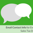 Email Contact Info for Every State's Sales Tax Department