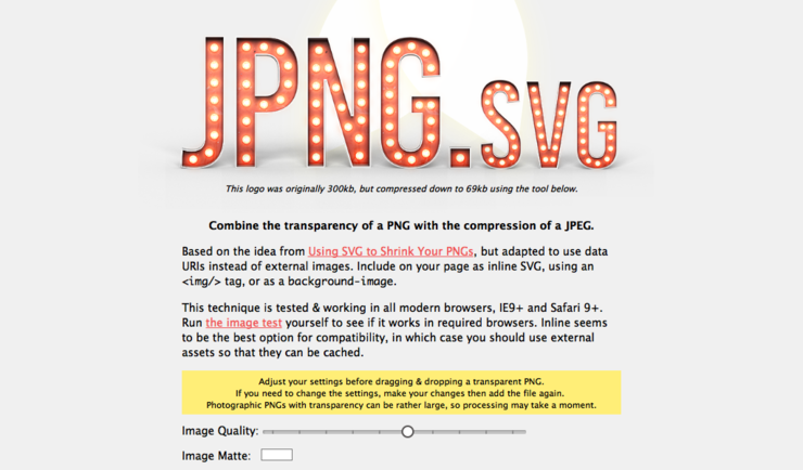 JPNG svg (Transparent PNG with JPEG Compression) | Revue