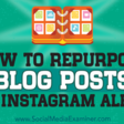 How to Repurpose Blog Posts Into Instagram Albums : Social Media Examiner