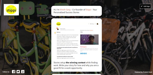 Stippi on Product Hunt Upcoming