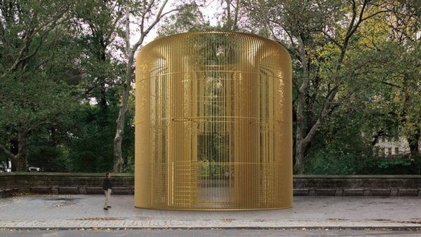 """A rendering of Ai Weiwei's """"Good Fences"""""""