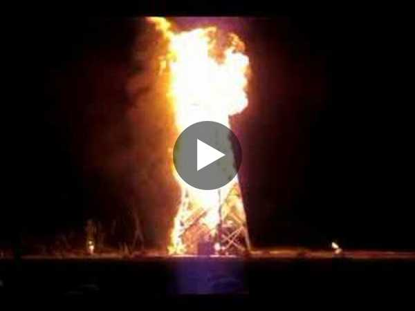 Crude Awakening Burning Man 2007 Oil Derrick Explosion!