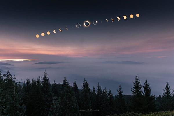 This time-lapse capture of the solar eclipse a couple weeks back is stunning.