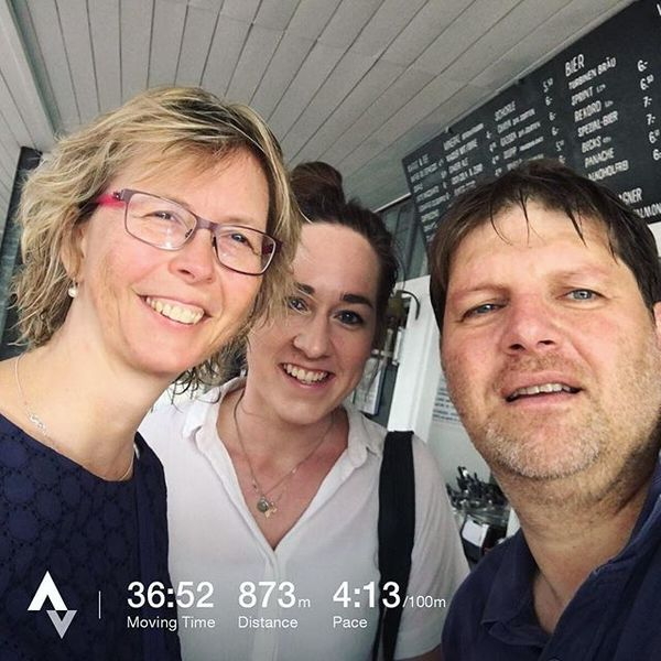 With colleagues Sarah Money and Katharine Sephton