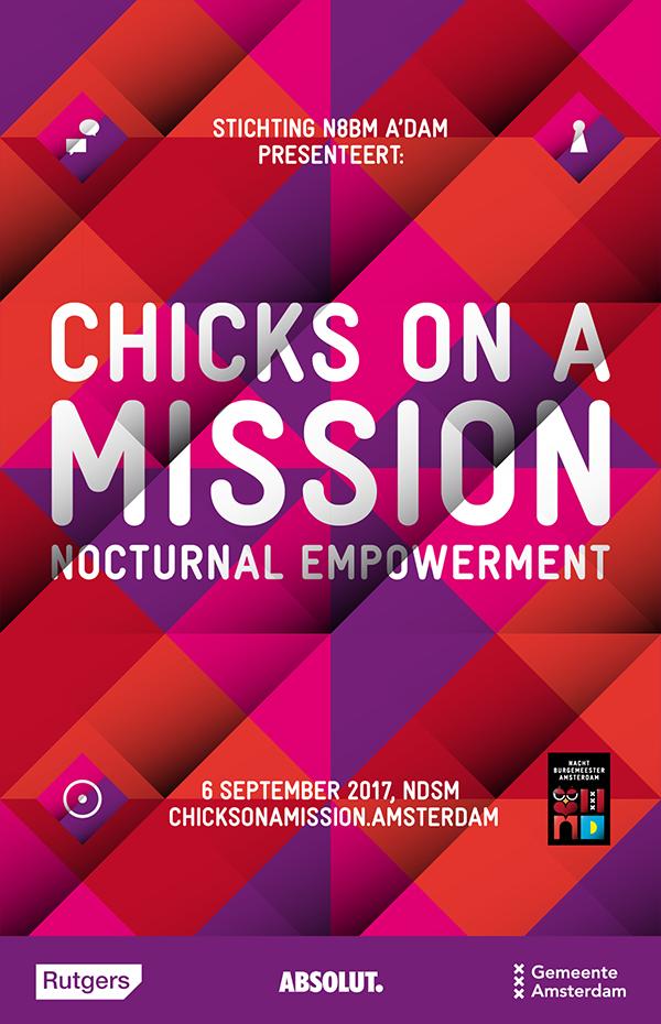 Chicks on a Mission wordt mede mogelijk gemaakt door onze partners Rutgers, Absolut en Gemeente Amsterdam