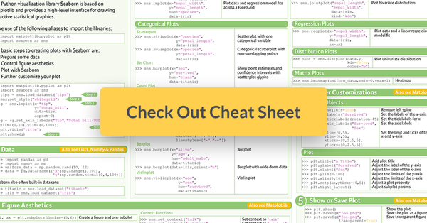 Seaborn cheat sheet