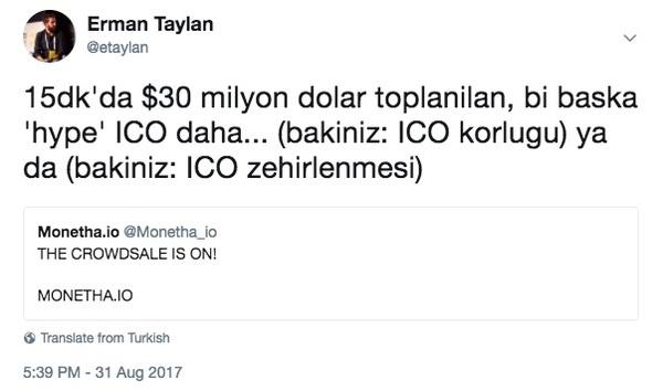 Bu gibi ICO'ları 'scam' yani Türkçesiyle 'çöp' olarak nitelendirmek haksızlık mı? (bence değil)
