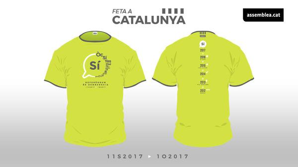 Dit shirt dragen de Catalanen op 11 september