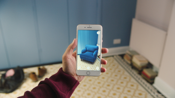 IKEA Place, the retailer's first ARKit app, creates lifelike pictures of furniture in your home