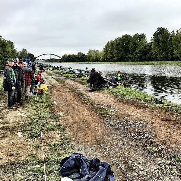 Het WK vissen in Ronquières.